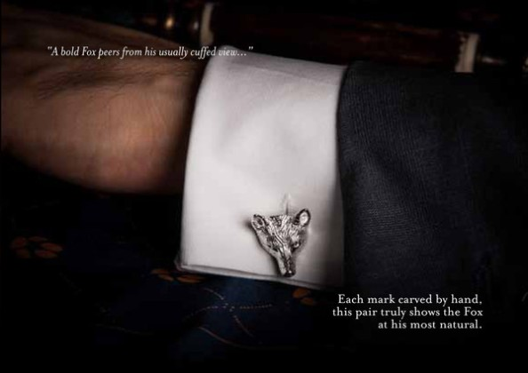 whimisical accessories- monsieur fox cufflinks and pocket squares 3