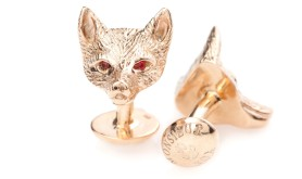 whimisical accessories- monsieur fox cufflinks and pocket squares 6