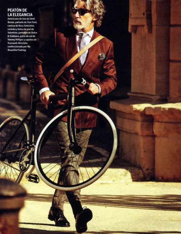 aiden shaw on bicycle