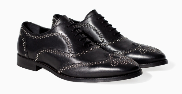 alternative black tie - studded oxford shoes