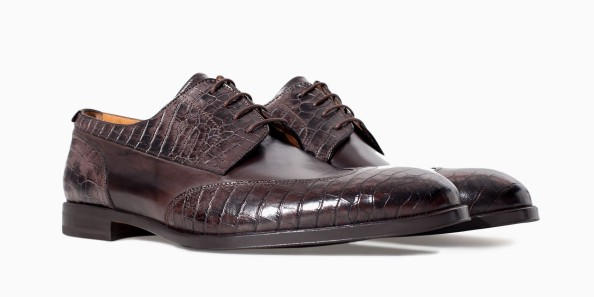 alternative black tie - texture on texture crocskin shoes