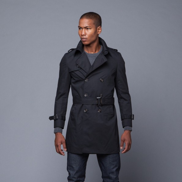 how to dress stylishly men - georges rech double breasted raincoat