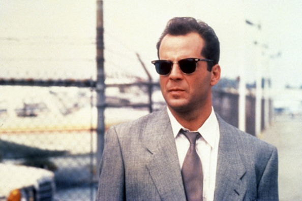 Bruce Willis wore a pair of Shuron Ronsirs Browline sunglasses in popular series Moonlighting the mid 80s
