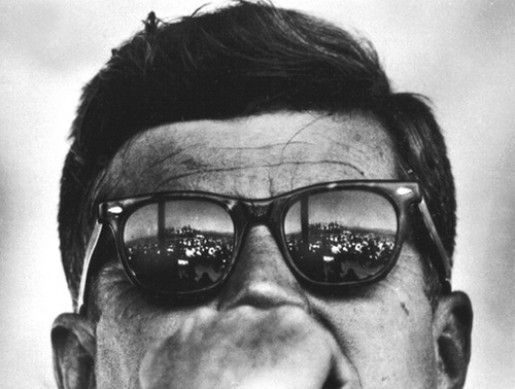 John F. Kennedy usually wore American Optical Saratoga sunglasses which resemble Wayfarers