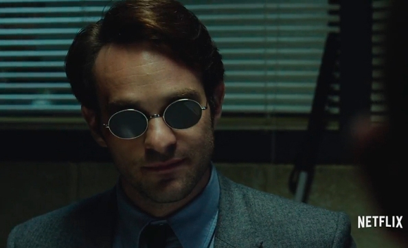 Matt Murdock dresses in solid tone shirts simply because pattern mixing would be a tad troublesome and a potential hit and miss for a blind person.