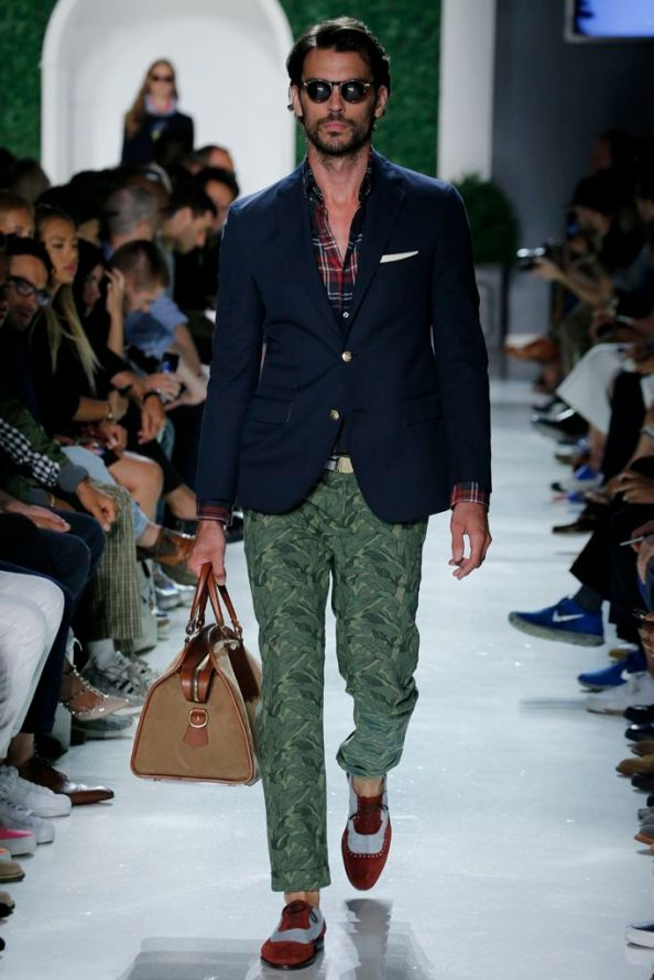 Dark Preppy Look- Michael Bastian Men's RTW Spring 2016 1