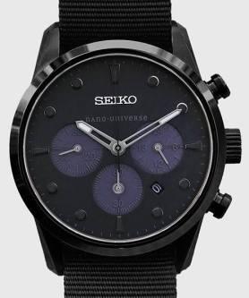 Seiko x Nano Bespoke Black StealthChrono 8