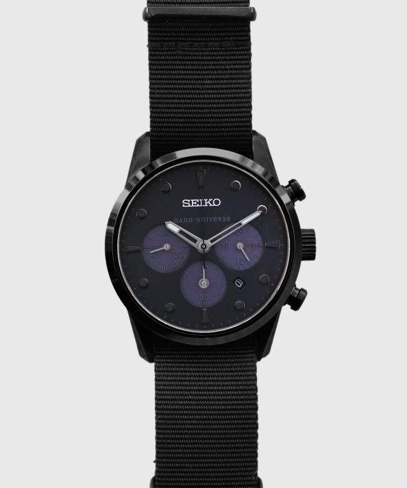 Seiko x Nano Bespoke Black StealthChrono 9