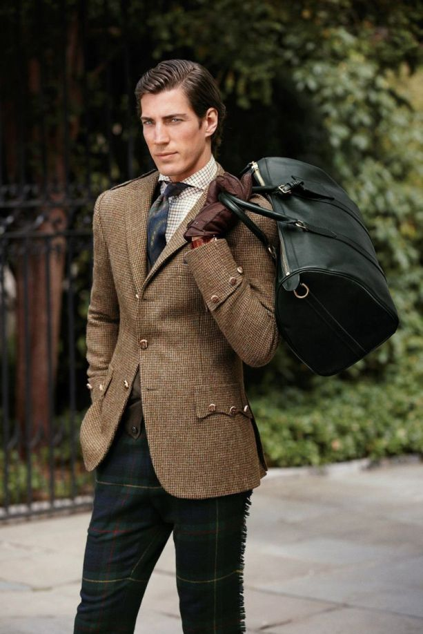 The tweed sport coat, emblematic of Ralph Lauren Purple Label.