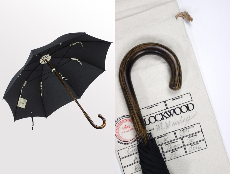 Kingsman style - The Weapon: Handcrafted Lockwood Oak wood umbrella with Black cotton canopy